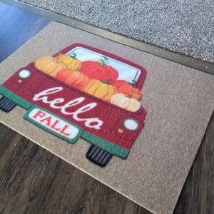 Fall Door Mat Farmhouse Truck